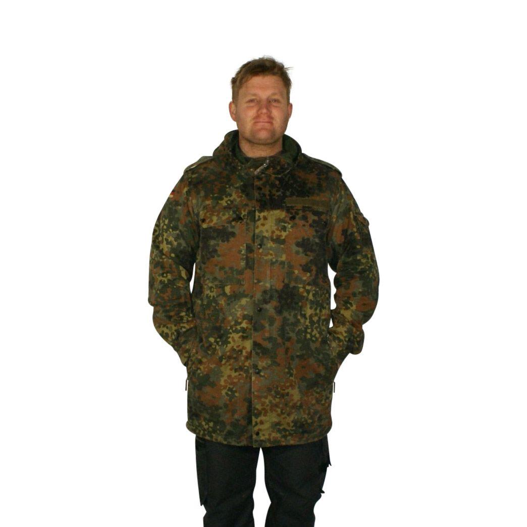 8f5a2f98941 Parka, Tysk Militær, flecktarn camouflage, brugt